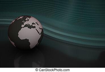 abstrakt, hintergrund, mit, planet