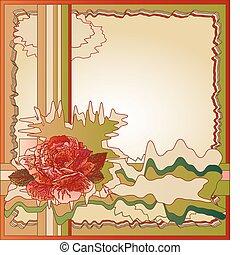 abstrakt, hintergrund, mit, rose
