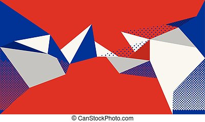 abstrakt, hintergrund, rotes , blaues, weißes