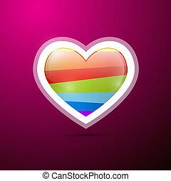abstrakt, hjärta, på, violett, bakgrund