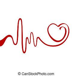 abstrakt, hjärta