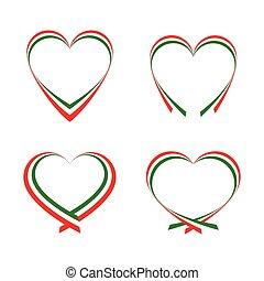 abstrakt, hjärtan, italian sjunker, färger