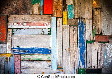 abstrakt, holz, wand, hintergrund, mit, vignetting