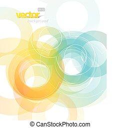 abstrakt, illustration, med, circles.