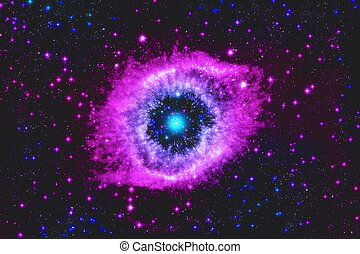 abstrakt, illustration, med, stjärna, utrymme, nebulosa