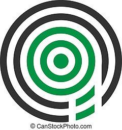 abstrakt, illustration, q, vektor, design, mygga, brev, logo, ikon