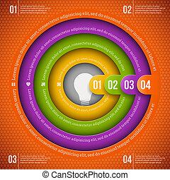 abstrakt, infographic, design