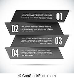abstrakt, infographic, schablone