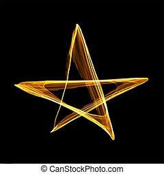 abstrakt, jul, guld, star., vektor