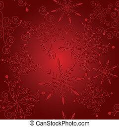 abstrakt, jul, röd, seamless