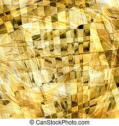 abstrakt, kaotiske, mønster, hos, farverig, krummet, linjer