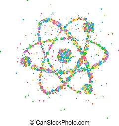 abstrakt, kern, atom
