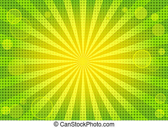 abstrakt, klar, grøn baggrund, w