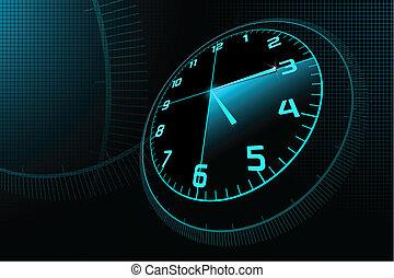 abstrakt, klocka