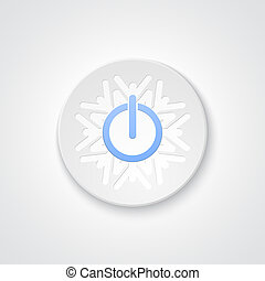 abstrakt, knap, magt, sneflage