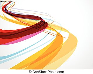 abstrakt, komposition, bakgrund, våg