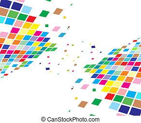 abstrakt, komposition, mosaik