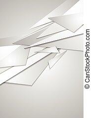 abstrakt, korporativ, grau, hintergrund, geometrisch