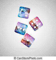 abstrakt, kreativ, begriff, vector., für, web, und, beweglich, zufriedene , freigestellt, hintergrund, ungewöhnlich, schablone, design, wohnung, silhouette, gegenstand, und, sozial, medien, bild, dreieck, kunst, origami