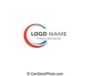 abstrakt, kreis, schablone, logo