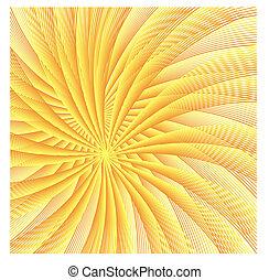 abstrakt, kugelförmig, leuchtend, gold, sternen