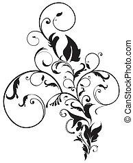 abstrakt, kunstneriske, blomstrede