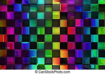 abstrakt, kvarter, färgrik, bakgrund