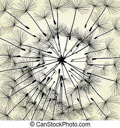 abstrakt, lã¶wenzahn, hintergrund, vektor, abbildung, fruehjahr
