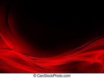 abstrakt, leuchtend, rotes , und, schwarzer hintergrund