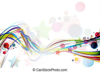 abstrakt, linie, welle