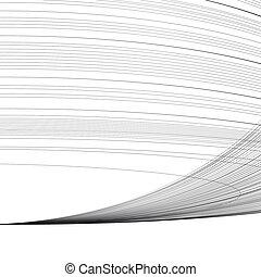 abstrakt, linien, vektor, hintergrund, gebogen, parallel