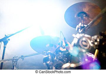abstrakt, live musik, background.public, und, trommel