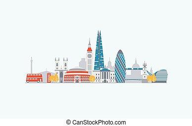 abstrakt, london, skyline
