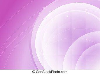 abstrakt, lyserød, horisontale, baggrund, hos, transparent, circles., vektor, illustration