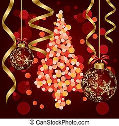 abstrakt, lyxvara, jul