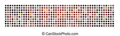 abstrakt, mäktig, punkt, panorama, fond mönstra