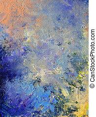 abstrakt, målad, bakgrund