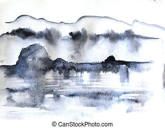 abstrakt, målning