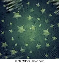 abstrakt, mörkblå, bakgrund, med, stjärnor