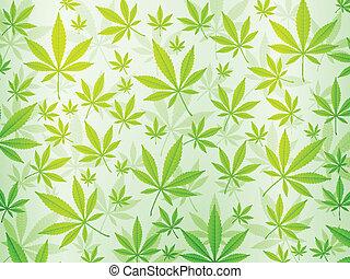 abstrakt, marihuana, hintergrund