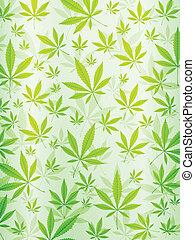 abstrakt, marihuana, hintergrund, senkrecht