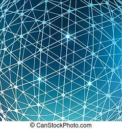 abstrakt, masche, polygonal, hintergrund., bereich, von,...