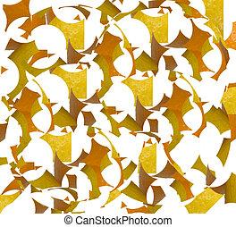 abstrakt, material, design, lemons, apelsiner