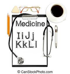 abstrakt, medicinsk, baggrund