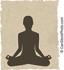 abstrakt, meditieren, hintergrundleute