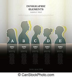 abstrakt, menschliche , form, infographics