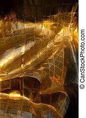 abstrakt, metall, gold, hintergrund