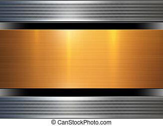 abstrakt, metall, hintergrund, gold