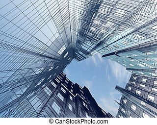 abstrakt, moderne arkitektur