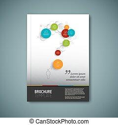 abstrakt, moderne, brochure, vektor, konstruktion, skabelon...
